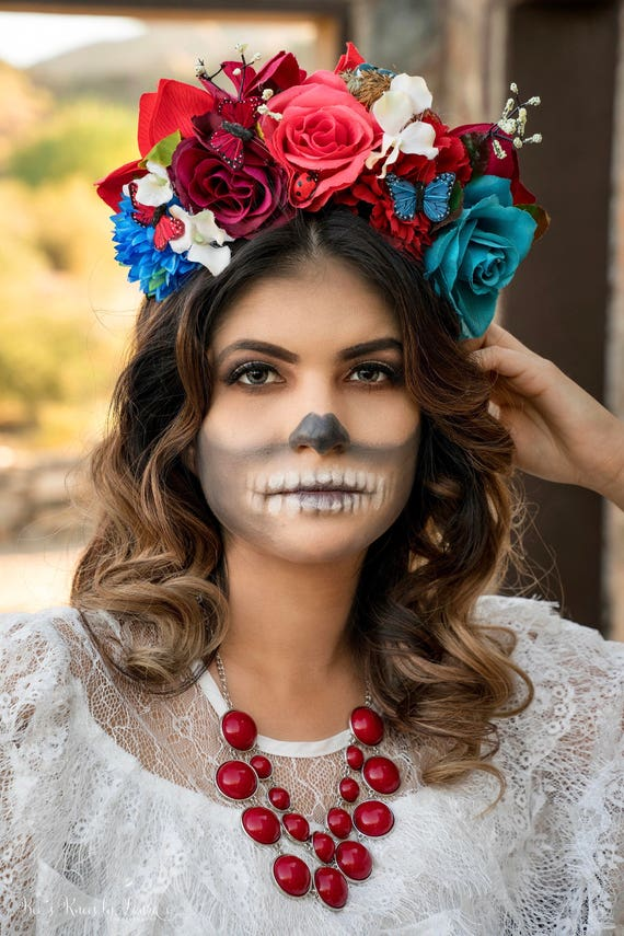 Along the Border Line Headpiece Day of the Dead Sugar  b83d923c435