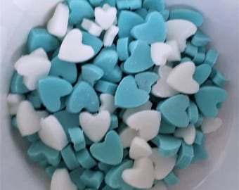 Edible Hearts Mixed Sprinkles Cake Toppers Perfect Size for Cakes, Cupcakes, Cake Pops and Lollies for Valentines & More Choice of Pack Size