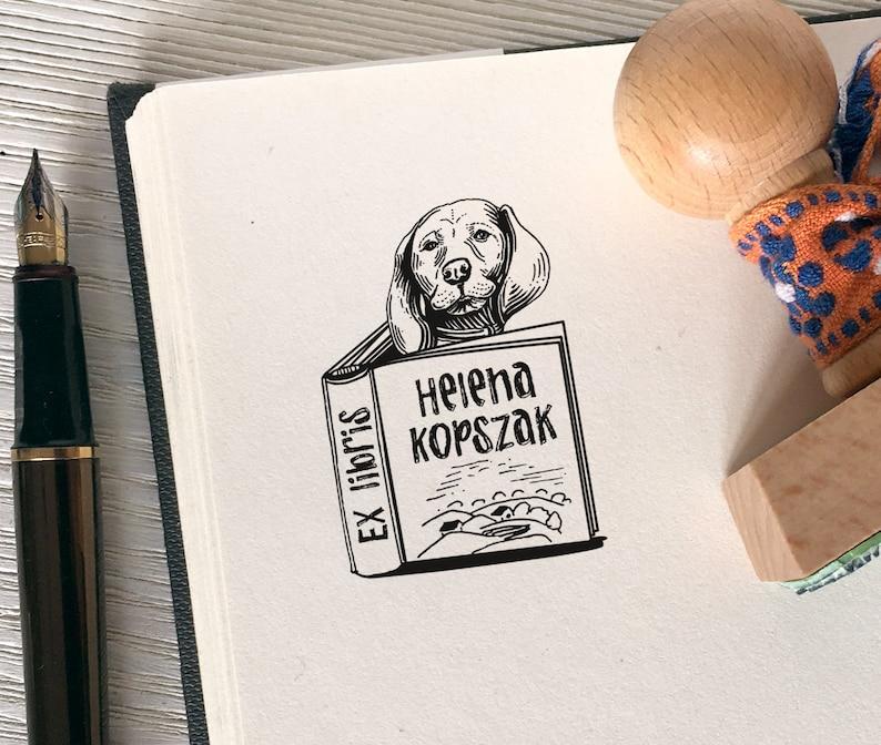 EX LIBRIS wooden stamp Artistic Design on REQUEST  Bespoke image 0
