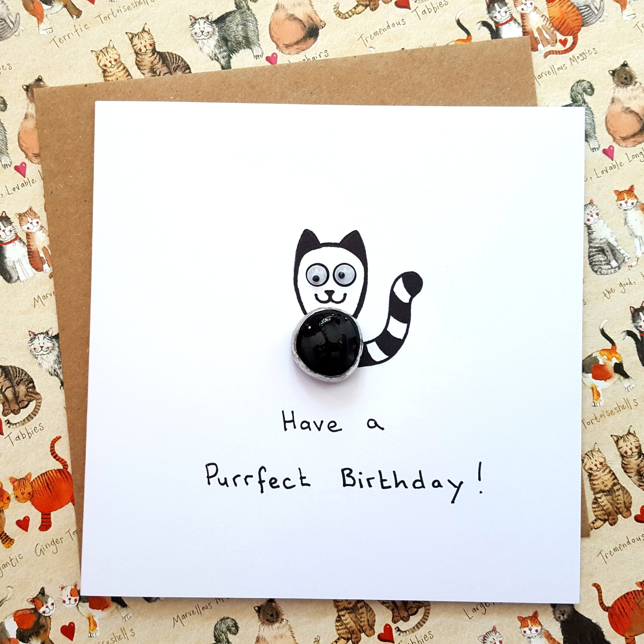 Funny Birthday Card Cat Youre Purrfect