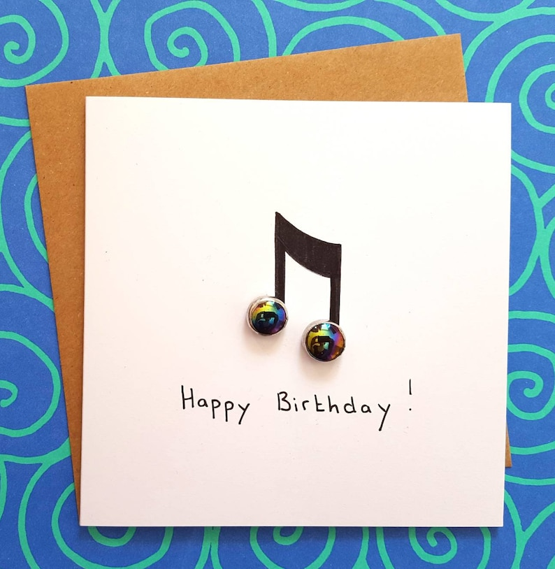 Music Notes Birthday Card Lovers Musician