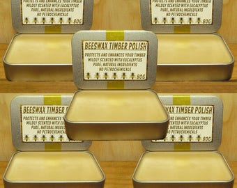 BEESWAX TIMBER POLISH - 400g - Pure & Natural - No Petrochemicals!