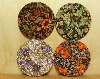 Set of 4 coasters - 95mm - Vintage Patterns