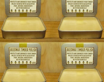 BEESWAX TIMBER POLISH - 320g - Pure & Natural - No Petrochemicals!