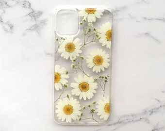Real fruit boho phone case,iphone se 7 8 plus x xr xs 11 pro max samsung galaxy s9 s10 s20 note 10 9 20 plus ultra pressed pink flower case