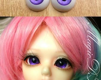 18mm Hand Made BJD Doll Eyes Pearlized Purple Acrylic Half Ball