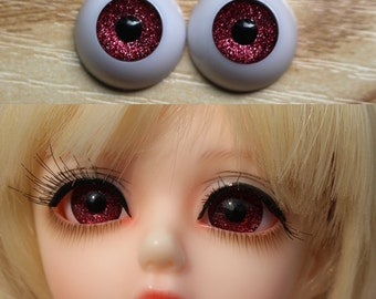 24mm Hand Painting BJD Doll Eyes Mint Green Acrylic Half Ball