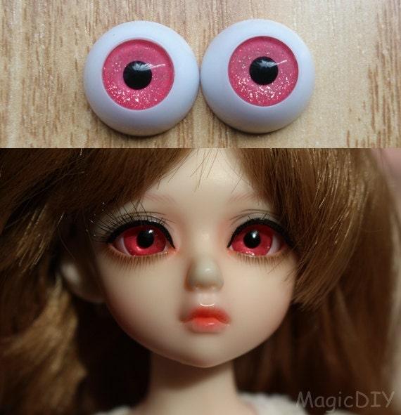 24mm Hand Made BJD Doll Eyes Grey Silver Acrylic Half Ball