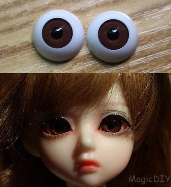 14mm Hand Made BJD Doll Eyes Grey Silver Acrylic Half Ball