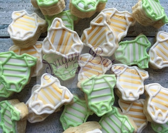 2 Dozen Mini Baby Shower Onesie Decorated Cookies