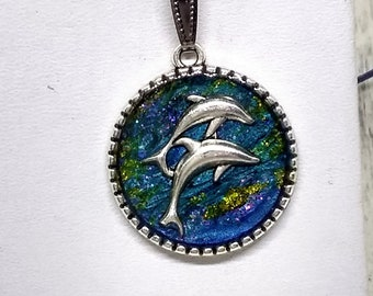 Dolphin Necklace - Nautical Necklace - Dolphins - Sea Life