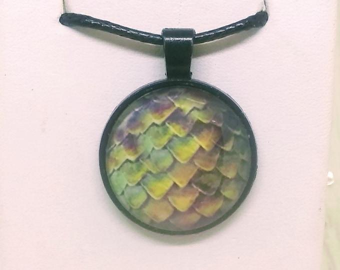 Dragon Scale Necklace - Dragon Scale Pendant - Dragon Scales - Green Dragon Scales - Dragon Egg