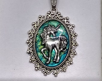 Unicorn Necklace - Unicorn Pendant - Fantasy Pendant - Statement Necklace - Mystical Pendant