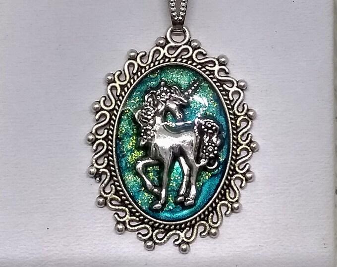 Unicorn Necklace - Unicorn Pendant - Fantasy Pendant - Statement Necklace - Mystical Pendant