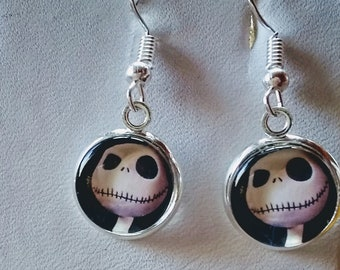 Jack Skellington Inspired Earrings - Nightmare Before Christmas Inspired Earrings - Skeleton Earrings