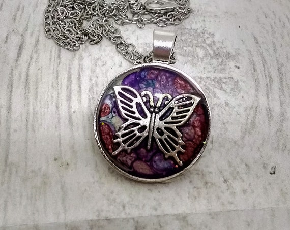 Butterfly Pendant - Butterfly Necklace - Hand Made Necklace - Hand Made Jewelry - Womans Gift