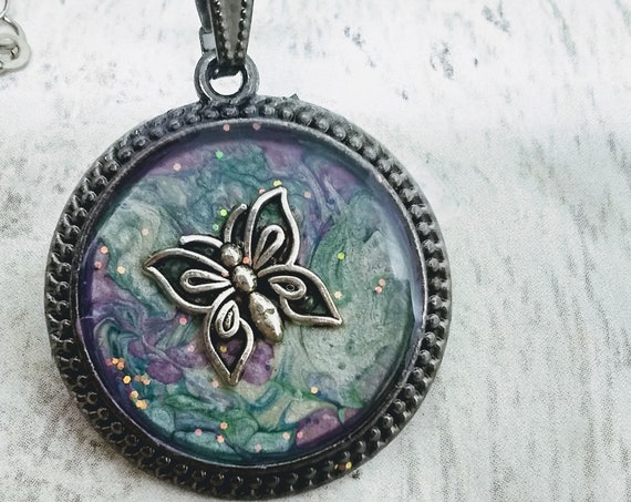 Butterfly Pendant - Butterfly Necklace - Hand Made Necklace - Womans Necklace - Womans Gift