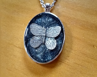 Butterfly Necklace - Butterfly Pendant - Unique Necklace - Artisan Necklace