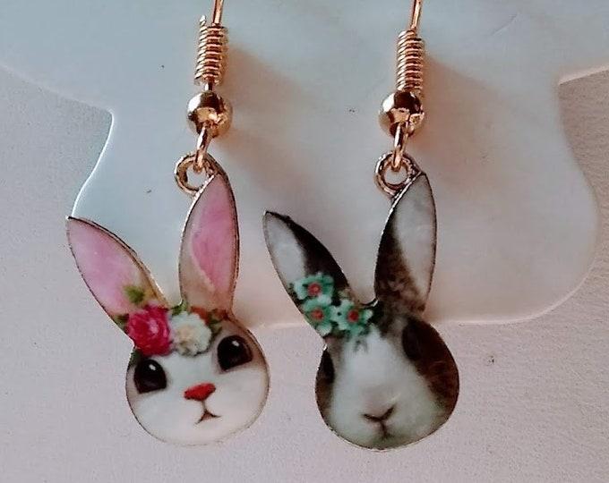 Rabbit Earrings - Bunny Earrings - Bunnies - Rabbits