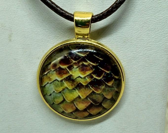 Dragon Scale Pendant - Dragon Scale Necklace - Dragon Pendant - GOT Inspired Pendant