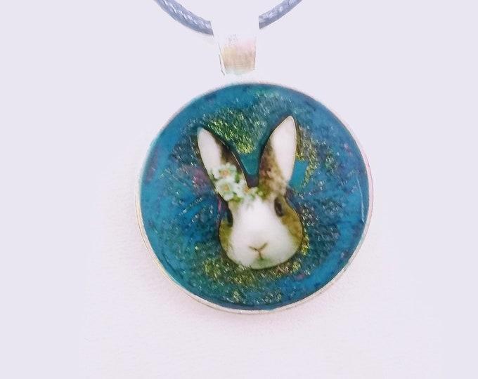 Rabbit Pendant - Rabbit Necklace - Bunny Pendant - Bunny Necklace - Easter Necklace