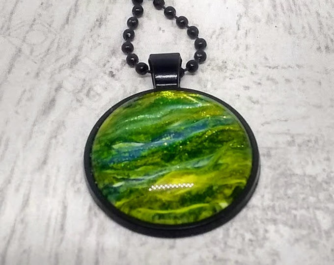 Hand Made Necklace - Green Necklace - Womans Necklace - Mens Necklace - St Patrick's Day Necklace