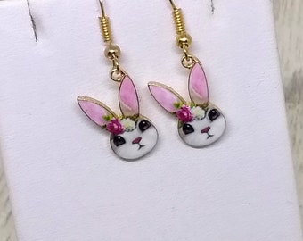 Cute Bunny Earrings - Rabbit Earrings - Easter Earrings - Bunny Earrings