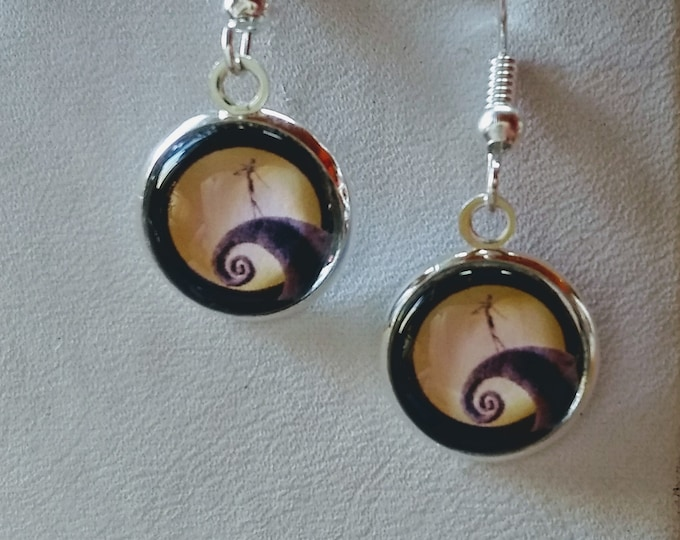 Jack Skellington Inspired Earrings - Nightmare Before Christmas Inspired Earrings - Skeleton Earrings