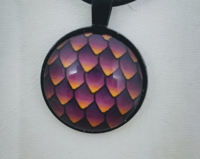 Dragon Scale Necklace - Dragon Scales - Dragon Egg - Fiery Dragon Scales