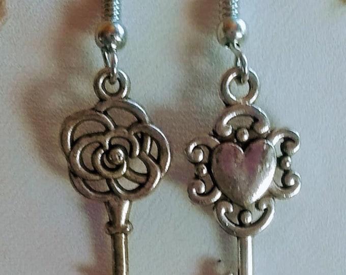 Key Earrings - Keys - Key to My Heart Earrings