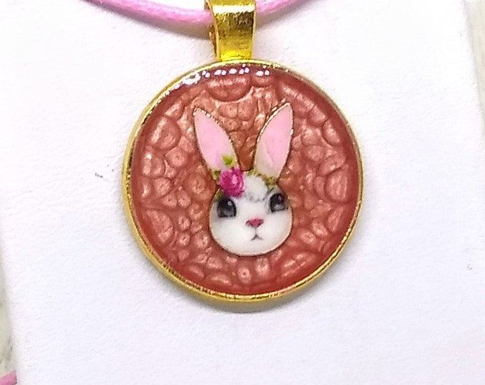 Bunny Pendant - Rabbit Necklace - Easter Necklace - Animal Necklace