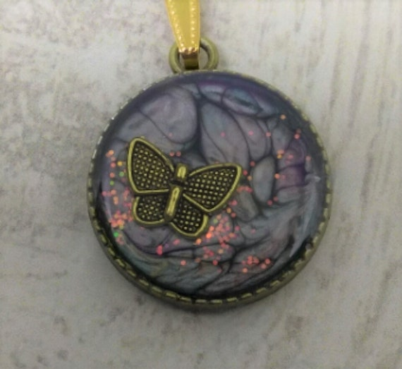 Bufferly Pendant - Butterfly Necklace - Hand Made Pendant - Womans Gift