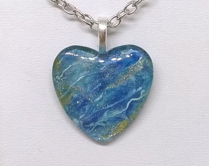 Heart Pendant - Heart Necklace - Pink Heart Necklace - Women's Gift - Girlfriends Gift - Love Gift