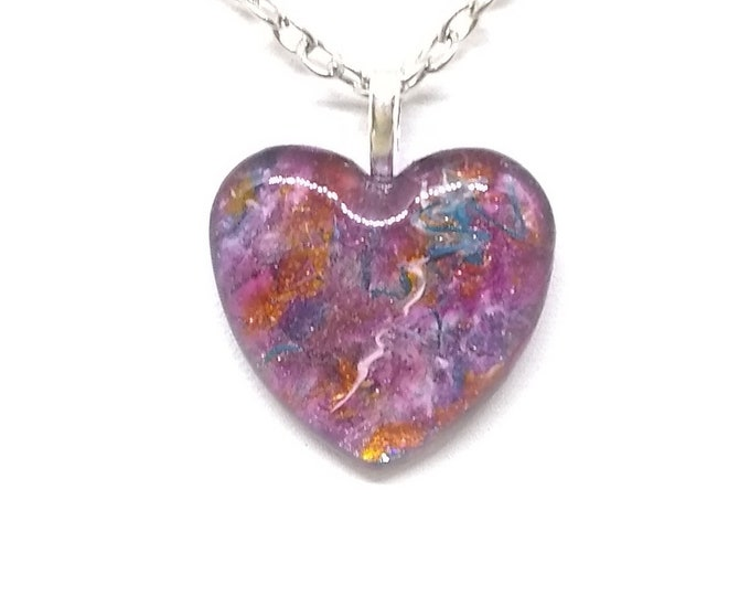 Heart Pendant - Heart Necklace - Pink Heart Necklace - Womens Gift - Girlfriends Gift - Love Gift