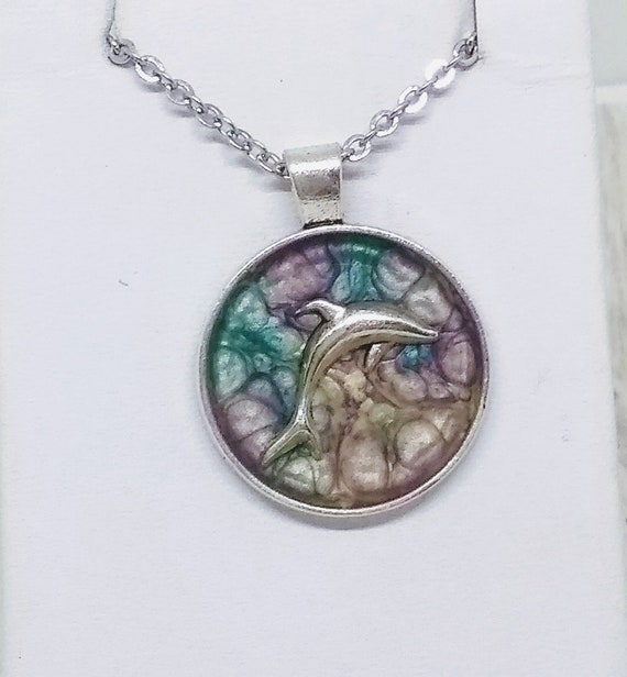 Dolphin Necklace - Nautical Necklace - Ocean Inspired Necklace