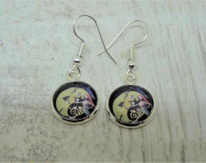 Jack Skellington Inspired Earrings- Nightmare Before Xmas Inspired Earrings - Pumpkin King Earrings - Sally Earrings