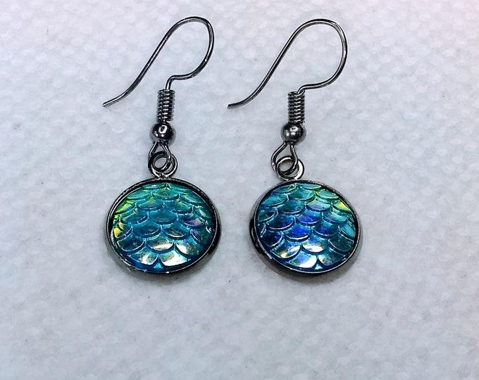 Mermaid Scales - Mermaid Earrings - Fish Scales Earrlings