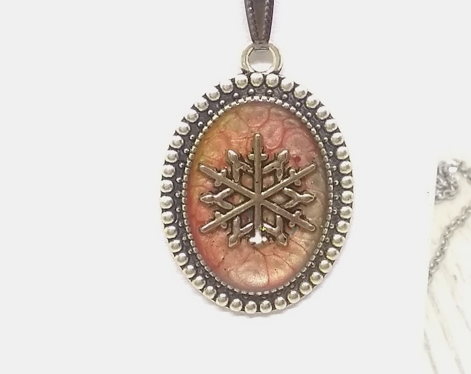Snowflake - Snowflake Pendant - Snowflake Necklace