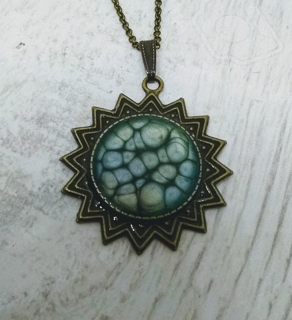 Star Necklace - Turquoise Necklace - Hand Made Necklace - Celestial Necklace