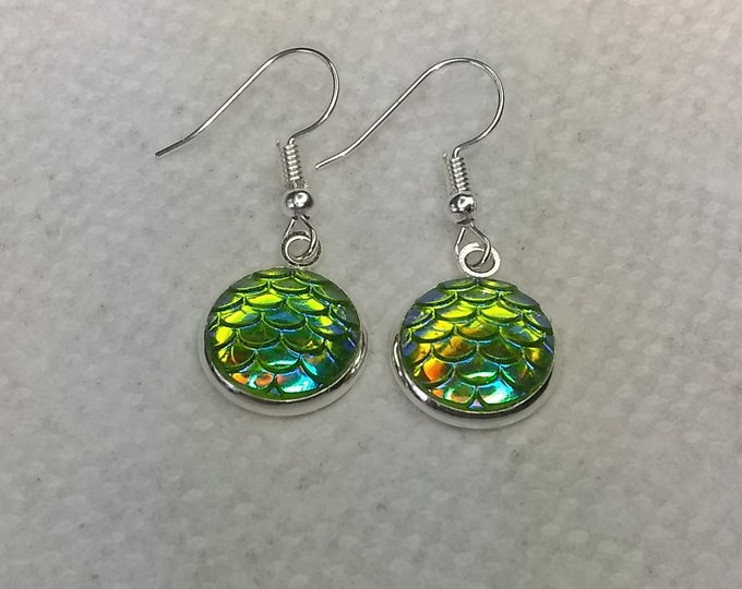 Mermaid Scale Earrings - Mermaid Scales -  Mermaid Earrings - Fish Scales Earrings
