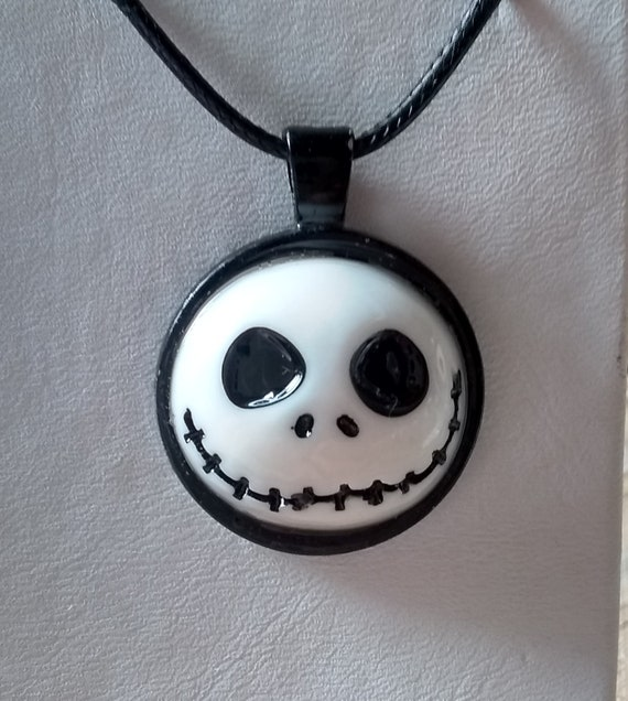 Jack Skellington Inspired Necklace - Nightmare Before Xmas Inspired Necklace - Skull Necklace