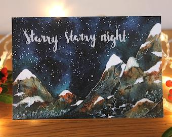 Christmas Greetings Card- 'Starry Starry Night'