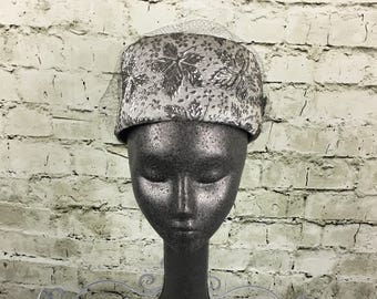 0357043f396 Vintage Silver Pillbox Hat