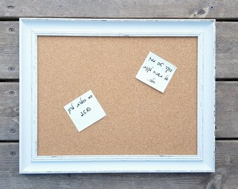 Framed Cork Board Etsy