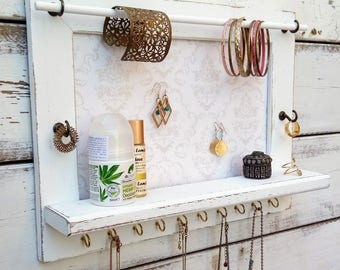 Jewelry Holder - Pick Your Color - Wall Hanging Jewelry Organizer