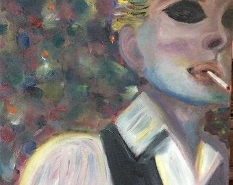 CHANNELING BOWIE - Original Acrylic Portrait