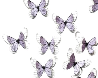 Lilac butterfly wall art for toddler room decor girl and enchanted forest wedding, woodland fairy birthday party decorations, baby nursery