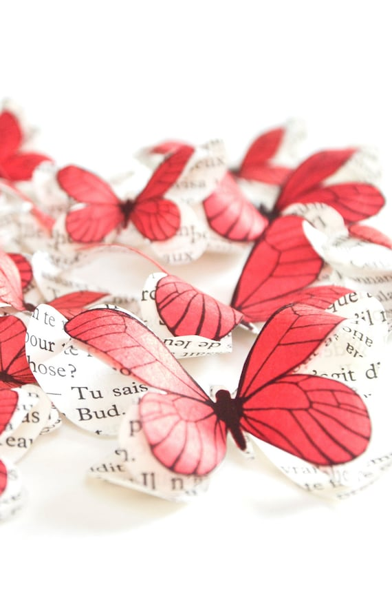 Butterfly Birthday Party Decorations Coral Paper Butterflies