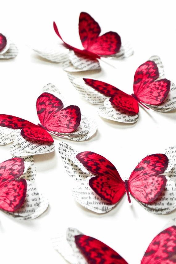 Papillons 3d En Papier Decoration Murale Chambre Bebe Fille Etsy
