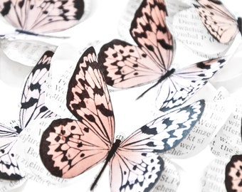 3d paper butterflies for engagement party decoration, fairy garden accessories for enchanted forest theme baby shower, butterfly ornament